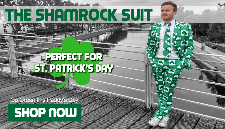 Go Green with the Shamrock Suit this St. Patrick's Day