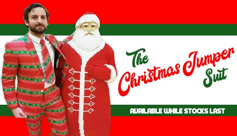 Rule the Christmas Party with the Christmas Jumper Suit, forget the sweater, this suit is better!