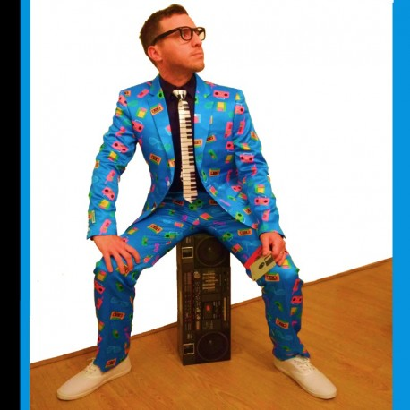 The 80's Suit & Piano Tie