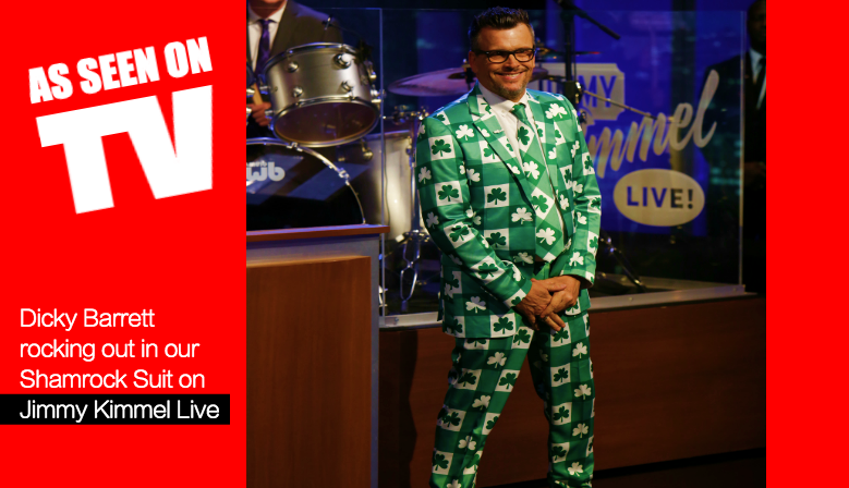 Fruitysuits - The Shamrock Suit as seen on The Jimmy Kimmel Live Show
