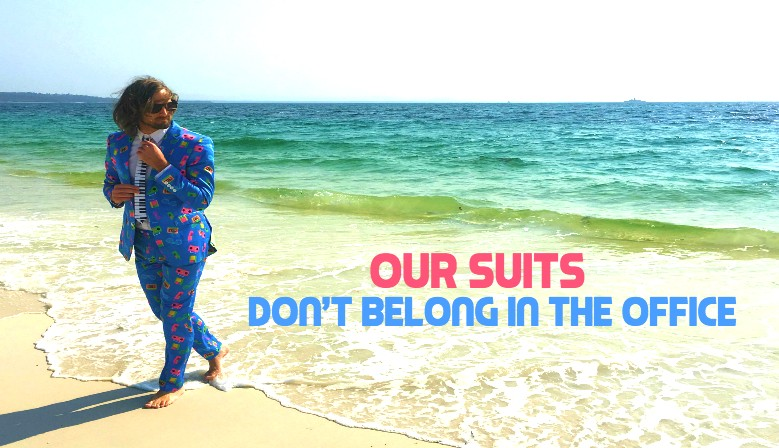 Our suits don't belong on the beach!