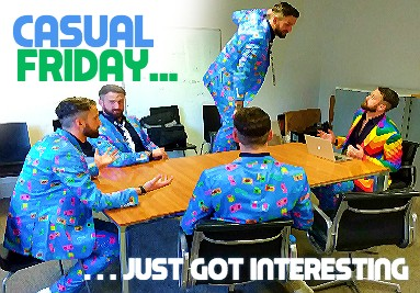 Casual Friday with a crazy suit
